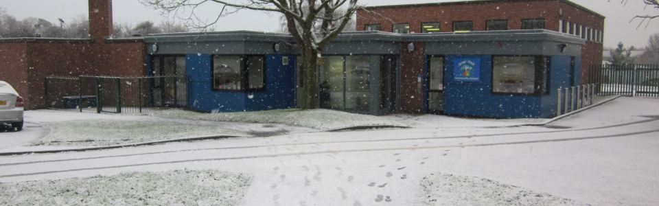 Snow at Over Hall
